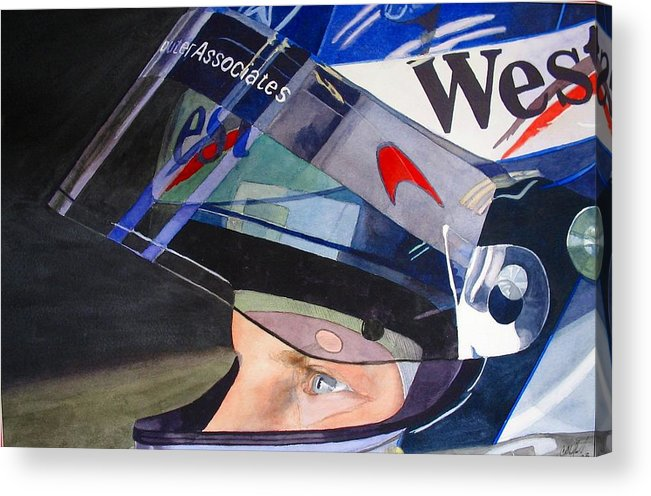Motorsports Acrylic Print featuring the painting Ready To Drive by Cory Clifford