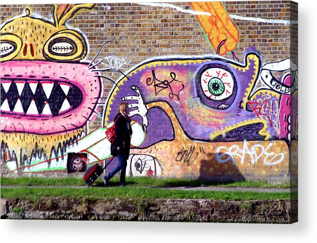 Jez C Self Acrylic Print featuring the photograph Reflective Canal 10 by Jez C Self