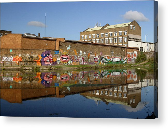 Jez C Self Acrylic Print featuring the photograph Reflective Canal 4 by Jez C Self