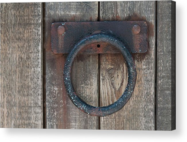 Door Acrylic Print featuring the photograph Ring Knock by Dan Holm
