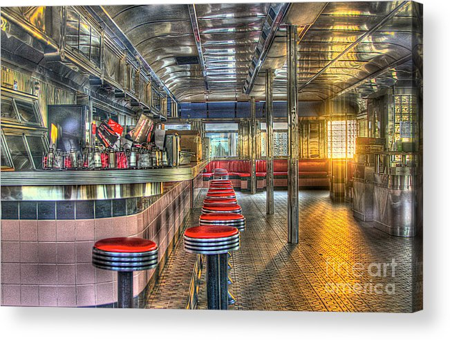 Diner Acrylic Print featuring the photograph Rosies Diner by Robert Pearson