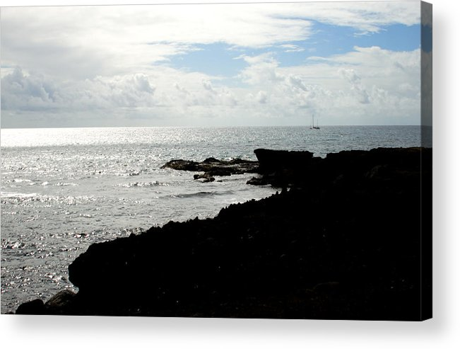 Sailboat Acrylic Print featuring the photograph Sailboat At Point by Jean Macaluso
