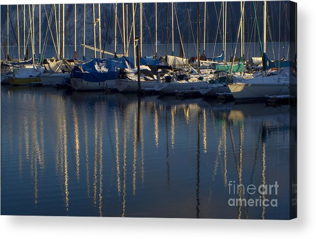 Mast Acrylic Print featuring the photograph Sailboat Reflections by Idaho Scenic Images Linda Lantzy
