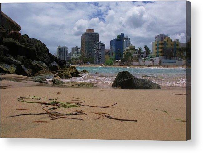 San Juan Acrylic Print featuring the photograph San Juan Beach Iv by Anna Villarreal Garbis