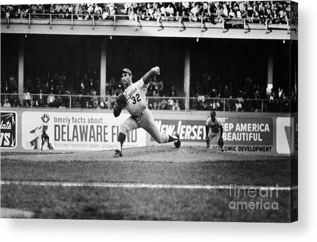 1966 Acrylic Print featuring the photograph Sandy Koufax (1935- ) by Granger