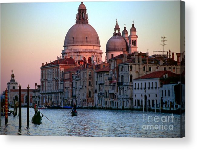 Venice Acrylic Print featuring the photograph Santa Maria Della Salute On Grand Canal In Venice In Evening Light by Michael Henderson
