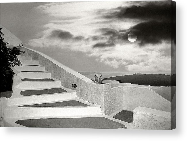 Santorini Acrylic Print featuring the photograph Santorini 01 by Manolis Tsantakis