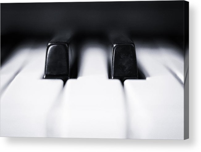 Piano Acrylic Print featuring the photograph Sharp Or Flat by Scott Norris
