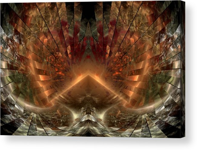 Sun Acrylic Print featuring the digital art Sol Invictus by NirvanaBlues