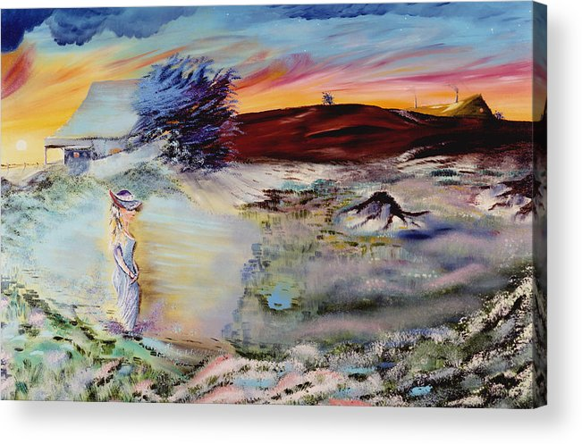 Prints Acrylic Print featuring the painting Southern Nights by Richard Barham