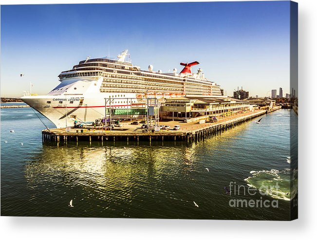 Sea Acrylic Print featuring the photograph Station Pier Cruise by Jorgo Photography - Wall Art Gallery