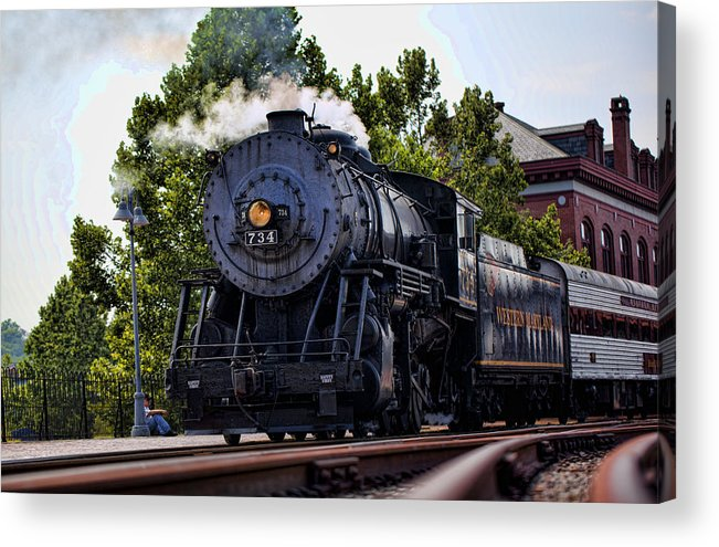 Steam Engine Acrylic Print featuring the photograph Steam Engine Of Cumberland by Christina Durity