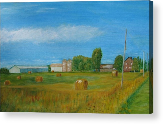 Landscape Acrylic Print featuring the painting Sunny Day Summer by Patricia Ortman
