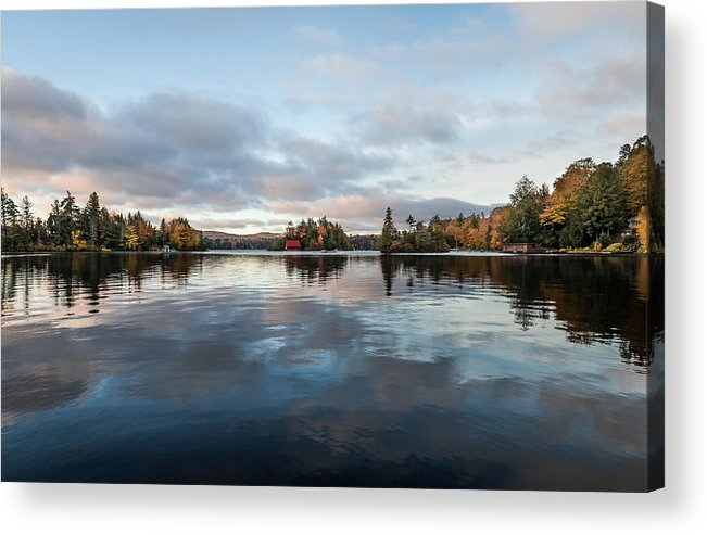 Sunrise Acrylic Print featuring the photograph Sunrise On Fourth Lake by Sandy Roe