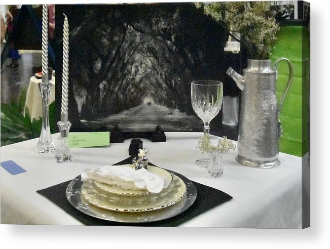 Dishes Acrylic Print featuring the photograph Tablescape by Helen Haw