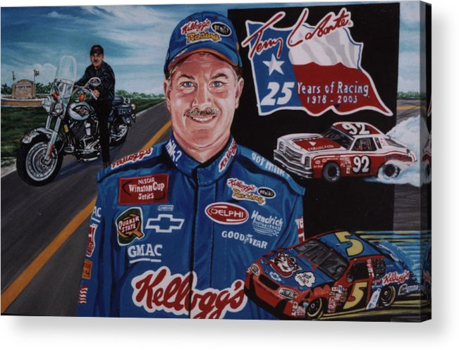 Portrait Acrylic Print featuring the painting Terry Labonte by Diann Baggett