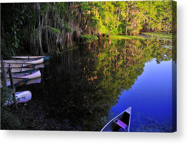 Skip Hunt Acrylic Print featuring the photograph The Black Lagoon by Skip Hunt