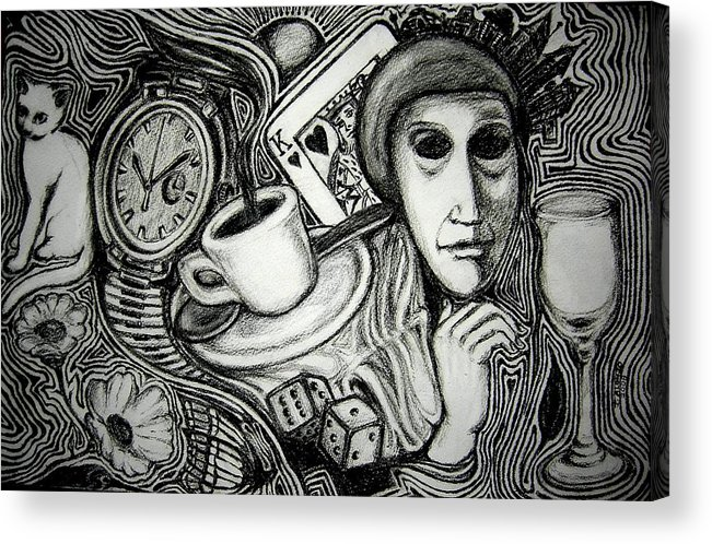 Daily Grind Acrylic Print featuring the drawing The Daily Grind by Jesse Alonzo