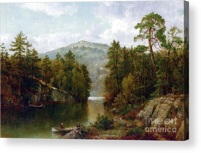 The Lake George Acrylic Print featuring the painting The Lake George by David Johnson