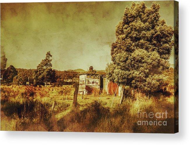 Tasmania Acrylic Print featuring the photograph The Old Hay Barn by Jorgo Photography - Wall Art Gallery
