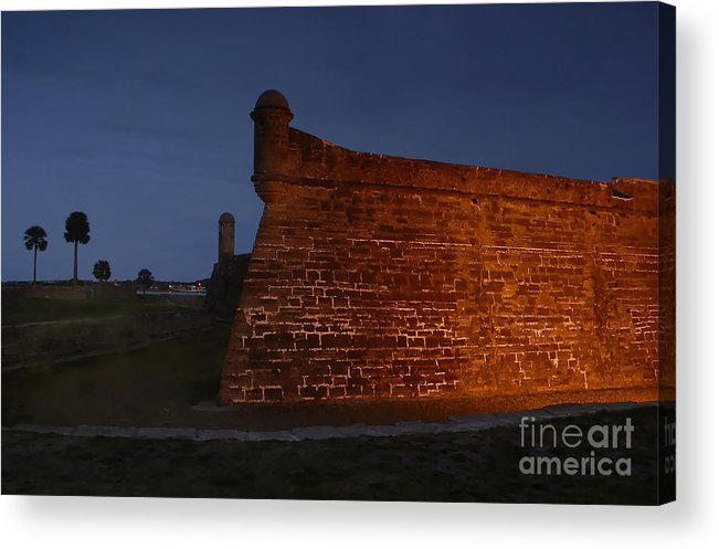 Castillo Acrylic Print featuring the photograph The Red Castillo by David Lee Thompson