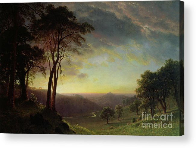 Albert Acrylic Print featuring the painting The Sacramento River Valley by Albert Bierstadt