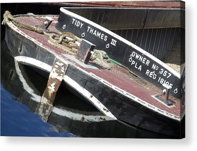 Jez C Self Acrylic Print featuring the photograph Tidy Thames by Jez C Self