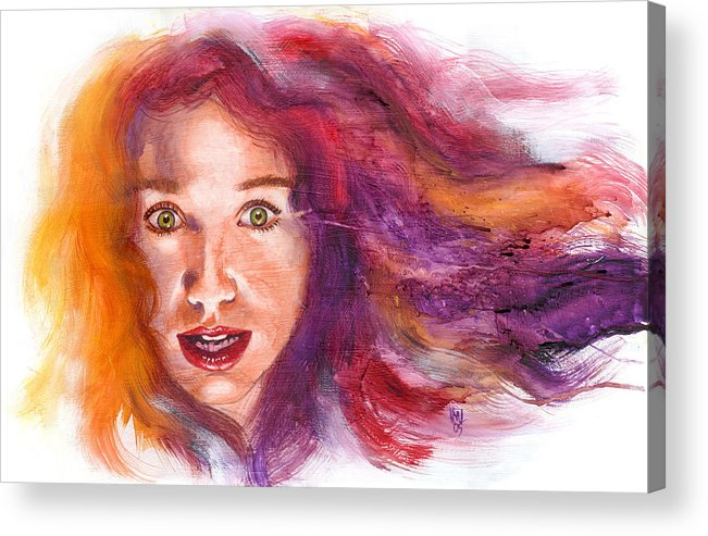 Musicians Acrylic Print featuring the painting Tori Rainbow by Ken Meyer