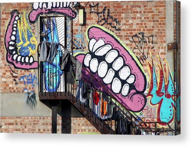 Jez C Self Acrylic Print featuring the photograph Underteeth The Stairs by Jez C Self