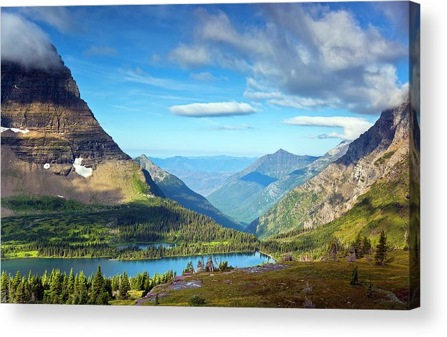 Horizontal Acrylic Print featuring the photograph Valley Beyond by Rebecca L. Latson
