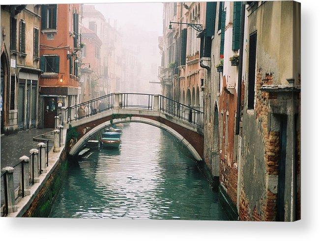 Venice Acrylic Print featuring the photograph Venice Canal II by Kathy Schumann