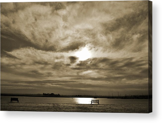 Sepia Tone Acrylic Print featuring the photograph Vintage Sky. by Terence Davis