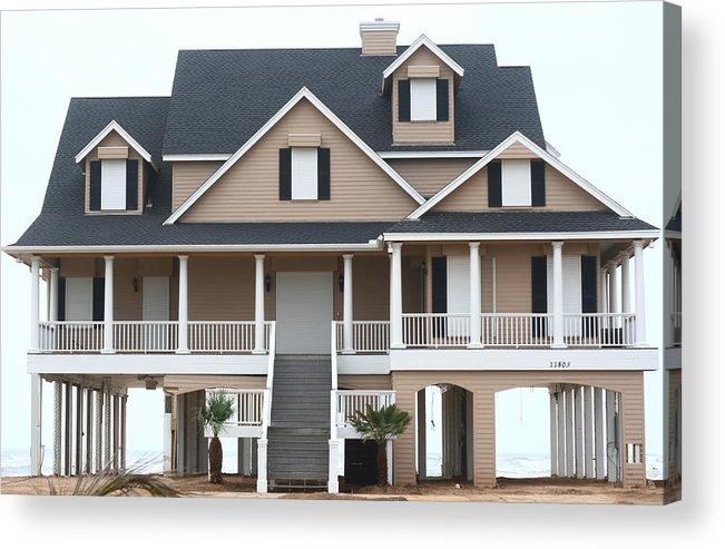 House Acrylic Print featuring the photograph W Beach House by David Houston