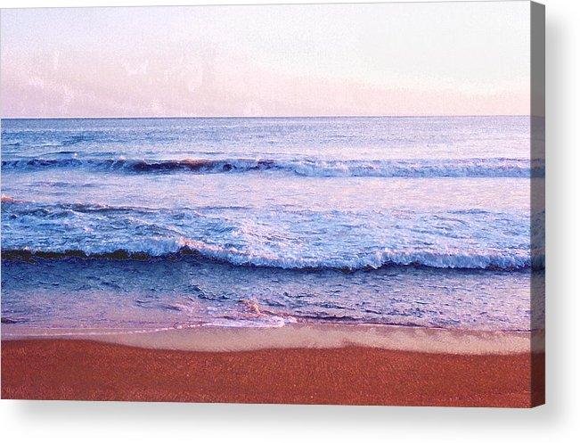 Sunset Acrylic Print featuring the photograph Waves On The Beach 2 Aedb by Lyle Crump