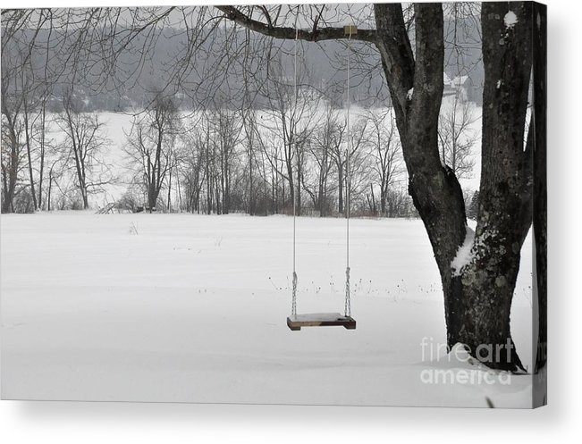Swing Acrylic Print featuring the photograph Winter Swing by John Black