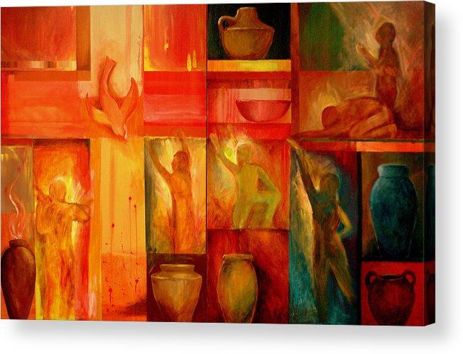 Worship Acrylic Print featuring the painting Worship by Jun Jamosmos