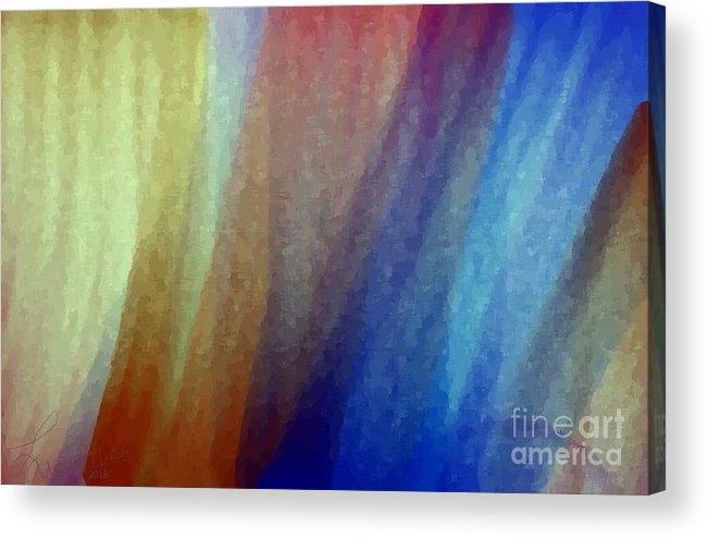 Abstract Acrylic Print featuring the digital art Z1342b by Lawrence Nusbaum