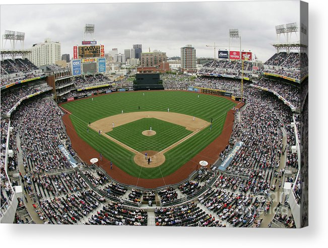 Scenics Acrylic Print featuring the photograph Chicago Cubs V San Diego Padres by Donald Miralle