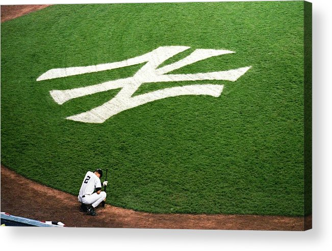 Grass Acrylic Print featuring the photograph Derek Jeter 2 by Jamie Squire