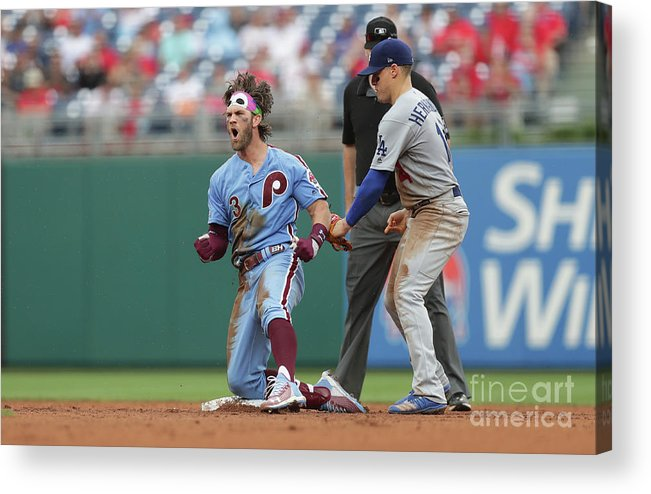 People Acrylic Print featuring the photograph Los Angeles Dodgers V Philadelphia 4 by Hunter Martin