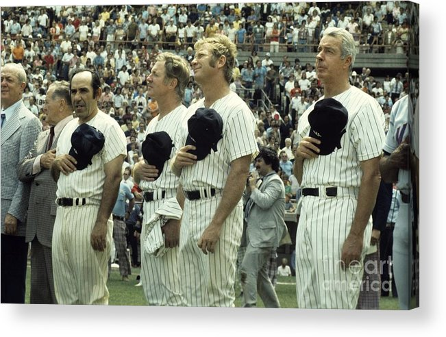 American League Baseball Acrylic Print featuring the photograph Boston Red Sox V New York Yankees by Olen Collection