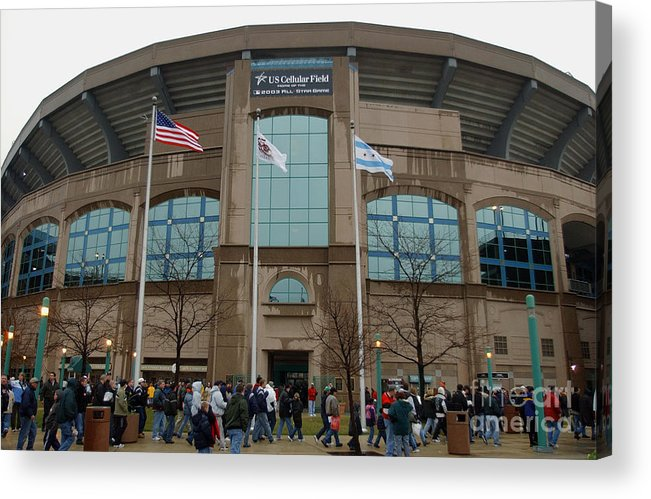 American League Baseball Acrylic Print featuring the photograph Fans Enter Ball Park by Jonathan Daniel