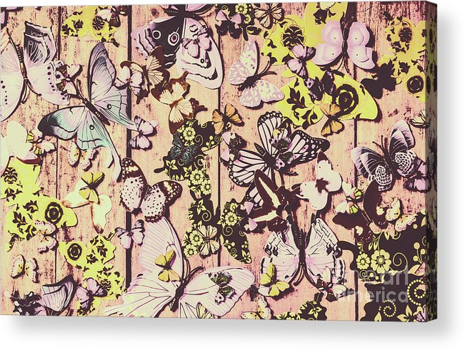 Butterfly Acrylic Print featuring the photograph Flight Patterns by Jorgo Photography - Wall Art Gallery