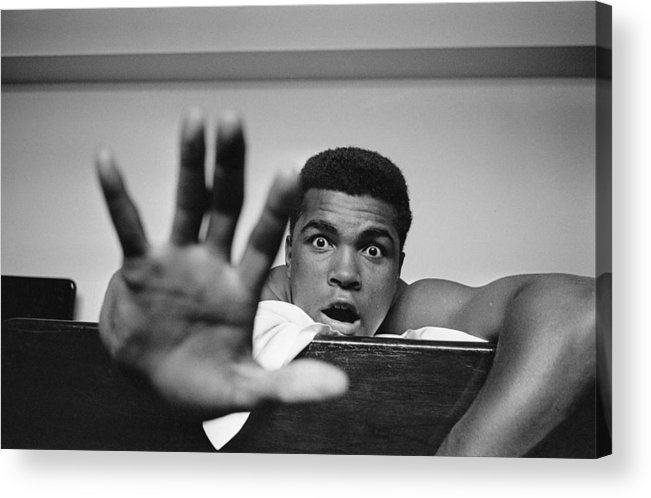 One Man Only Acrylic Print featuring the photograph Give Me Five by Len Trievnor