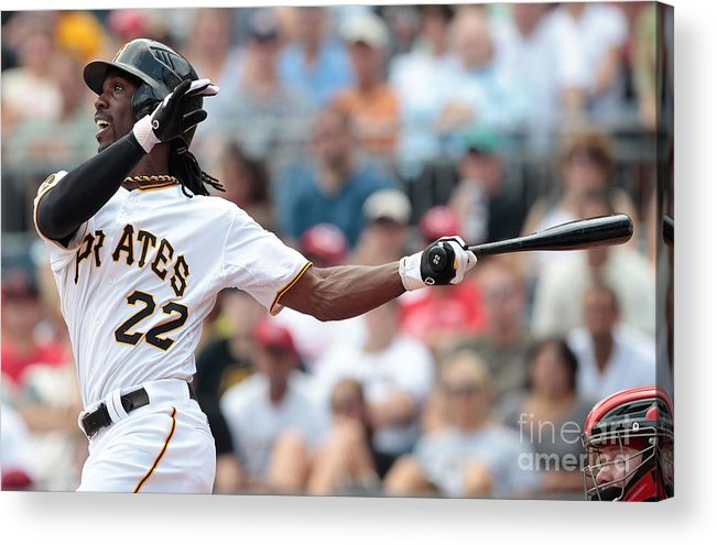 Pnc Park Acrylic Print featuring the photograph Andrew Mccutchen by Jared Wickerham