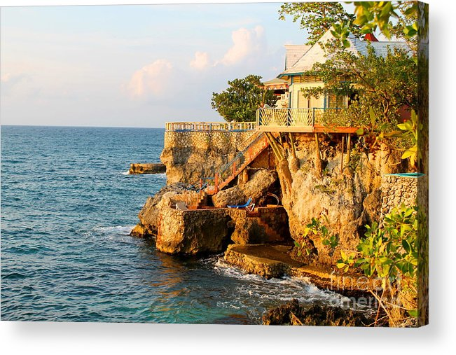 Jamaica Acrylic Print featuring the photograph Negril West End by Debbie Levene