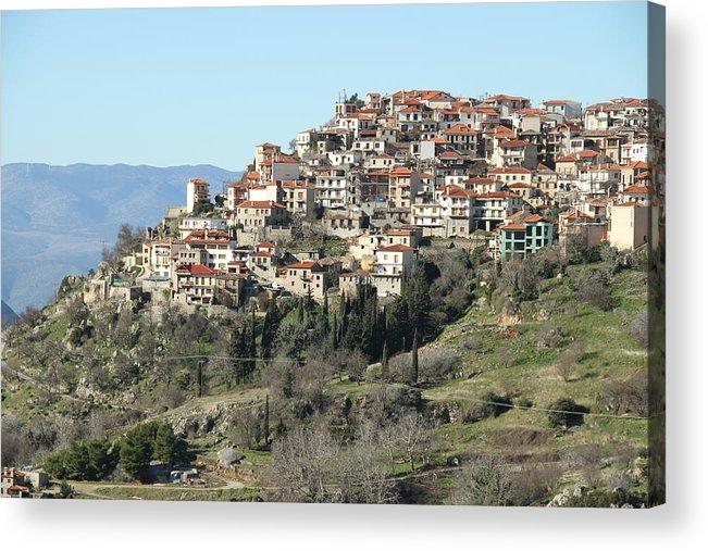 Greece Acrylic Print featuring the photograph 0074513 - Arachova by Costas Aggelakis