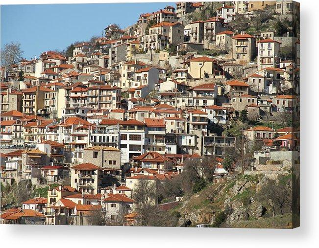 Greece Acrylic Print featuring the photograph 0074534 - Arachova by Costas Aggelakis