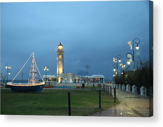 Greece Acrylic Print featuring the photograph 0079379 - Patras by Costas Aggelakis