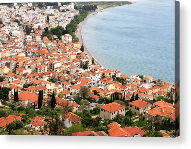 Greece Acrylic Print featuring the photograph 0098290 - Nafpaktos by Costas Aggelakis